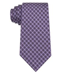 Calvin Klein - Purple Filigree Neats Slim Tie for Men - Lyst