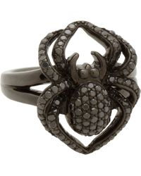 Lynn Ban | Pave Black Diamond Spider Ring | Lyst