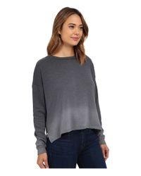 LNA | Black Ombre Backtail Sweatshirt | Lyst