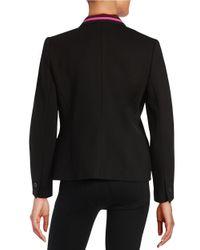 Anne Klein | Black Knit One-button Blazer | Lyst