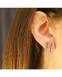 Adornia | Metallic Champagne Diamond And Sterling Silver Barra Bar Stud Earrings | Lyst