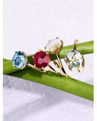 Ippolita | Metallic Rock Candy Mother-of-pearl, Clear Quartz & 18k Yellow Gold Doublet Ring | Lyst