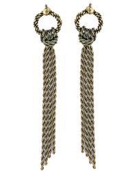 Lanvin | Metallic Pierced Earrings | Lyst
