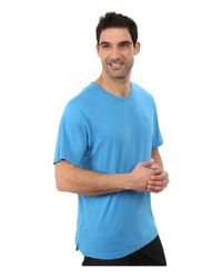 Tommy Bahama - Blue Solid Cotton Modal Jersey Knit Tee for Men - Lyst