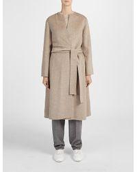 JOSEPH | Natural Double Cashmere Oslo Coat | Lyst