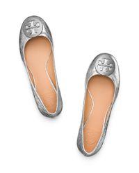 Tory Burch - Multicolor Reva Leather Ballet Flats - Lyst