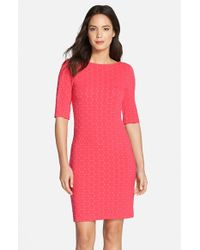 Julia Jordan | Pink Geometric Pattern Knit Body-con Dress | Lyst