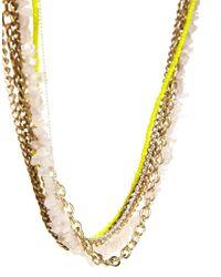 Kat&bee - Metallic Florence Necklace - Lyst
