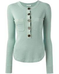 Chloé - Blue Round Neck Sweater - Lyst