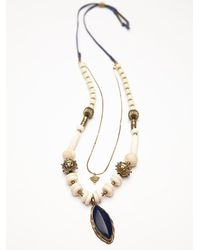 Free People - Blue Womens Chunky Bead Pendant - Lyst