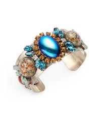 DANNIJO   Blue Emeline Cuff Bracelet   Lyst