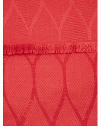 KENZO - Red Woven Scarf - Lyst