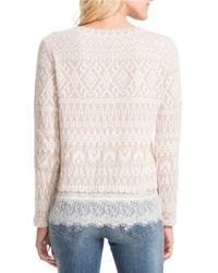 Jessica Simpson | White Luna Lace-trimmed Sweater | Lyst