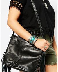 ASOS | Multicolor Boho Stone Cuff Bracelet | Lyst