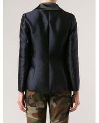 Harvey Faircloth - Black Contrast Collar Blazer - Lyst