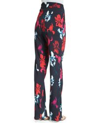 Thakoon - Multicolor Floral-Print Cady Pants - Lyst