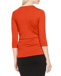 Vince Camuto | Red Hardware-accented Keyhole Top | Lyst