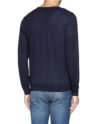 Acne Studios - Blue 'clissold C' Wool Cardigan for Men - Lyst