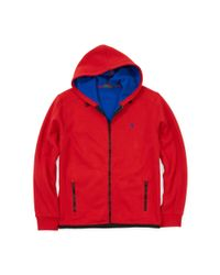 Polo Ralph Lauren | Red Bonded-fleece Jacket for Men | Lyst