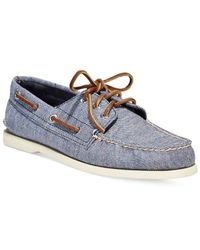 Sperry Top-Sider | Blue A/o 3-eye Fleck Canvas Boat Shoes for Men | Lyst