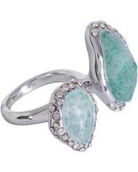 Alexis Bittar | Blue Rhodiumtone Amazonite Multistone Ring | Lyst