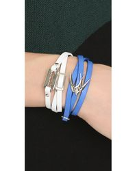 McQ - Blue Swallow Mini Wrap Bracelet - Cobalt - Lyst