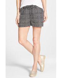 Caslon | Black Drawstring Linen Shorts | Lyst