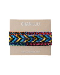 Chan Luu - Multicolor 3 Pack Woven Friendship Bracelet with Crystals - Lyst