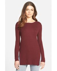 Trouvé | Purple Rib Knit Tunic | Lyst