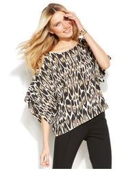 INC International Concepts - Multicolor Dolman-Sleeve Printed Top - Lyst