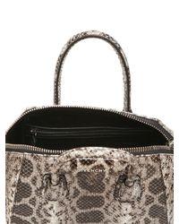 Givenchy | Brown Antigona Snakeskin Clutch | Lyst