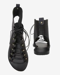 Ancient Greek Sandals - Black Perforated Gladiator Sandals - Lyst