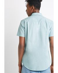 Forever 21 - Green Button-collar Shirt You've Been Added To The Waitlist for Men - Lyst