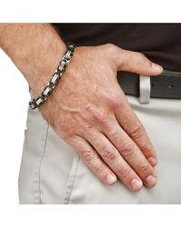 Palmbeach Jewelry - Men's Byzantine-link Bracelet In Black Ion-plated Stainless Steel for Men - Lyst