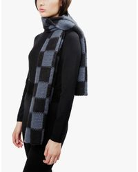 Wool And The Gang | Gray Check It Out Scarf | Lyst