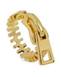 Steve Madden | Metallic Goldtone Zipper Ring | Lyst