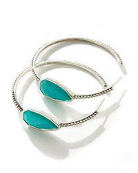 Stephen Dweck | Blue Cathedral Large Silver Hoop Earrings | Lyst