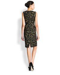 Dolce & Gabbana Black Scattered Key-Print Dress