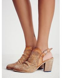 Free People - Brown De Soto Heeled Boot - Lyst