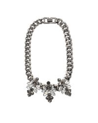 Mawi - Metallic Hematite Plated Necklace - Lyst