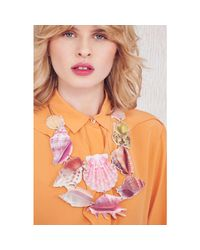 Tatty Devine - Pink Shell Grotto Statement Necklace - Lyst