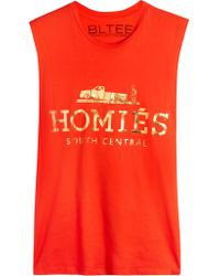 Brian Lichtenberg - Orange Homiés Cotton-jersey Tank - Lyst