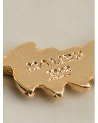 Malibu 1992   Metallic Leaf Detail Earrings   Lyst