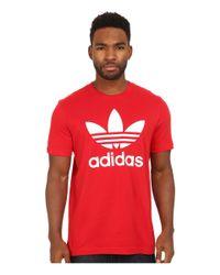 Adidas Originals | Red Originals Trefoil Tee for Men | Lyst