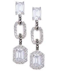 Judith Jack - Metallic Crystal (3/5 Ct. T.w.) And Marcasite (3/20 Ct. T.w.) Triple Drop Earrings - Lyst