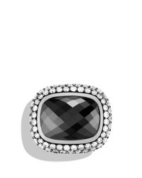 David Yurman | Metallic Waverly Limited-edition Ring With Hematine & Gray Diamonds | Lyst