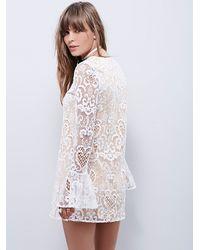 Free People | White Lenni Womens Saga Dress | Lyst