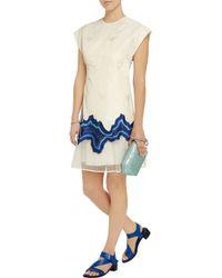 3.1 Phillip Lim - Blue Stretch Silk-jacquard Dress - Lyst