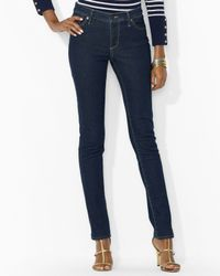 Ralph Lauren | Blue Petite Slimming Modern Straight Jeans | Lyst