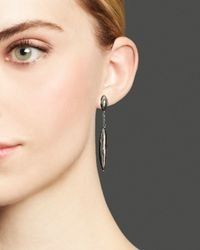 Roberto Coin - Metallic Sterling Silver And Ruthenium Drop Earrings - Lyst